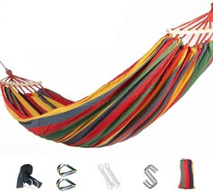 Double Cotton Hammock with Hanging Kits,80″ Long x lb - $42.84