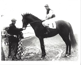 MORVICH 8X10 PHOTO HORSE RACING PICTURE JOCKEY J METCALF - $3.95