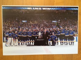 2019 Stanley Cup ST LOUIS BLUES Team Trophy Presentation Poster 11 X 17 - £11.60 GBP
