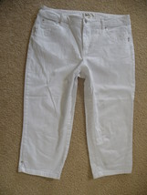 Dressbarn White Crop Cropped Jeans Pants Stretch Petite Size 8 8P  - $21.00