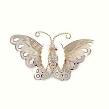 Vintage Brooch Goldtone Butterfly Pin 1950S - $13.10