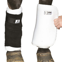 "14"" Cashel Horse No Bow Bandage Traditional Cotton Aid Wrapping Black U-... - $29.69"