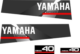 YAMAHA 40 AUTOLUBE - Outboard decal set, reproduction - $27.00