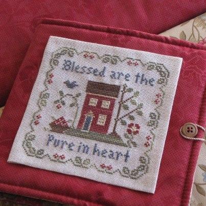 Hoop Keep -Red pre-finished accessory cross stitch Impie Hattie & Bea