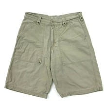 VINTAGE Lee Dungarees Chino Shorts Denim Canvas Multipurpose Size 32 Waist Mens - $17.83