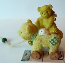 Pull Toy Bear Little Friend Priscilla Hillman Enesco figural 1999 - $9.85