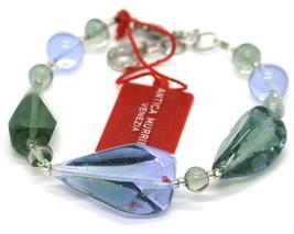 Bracelet Antica Murrina Venezia, Glass Murano, BR513A12, Drops, Green Light Blue image 2