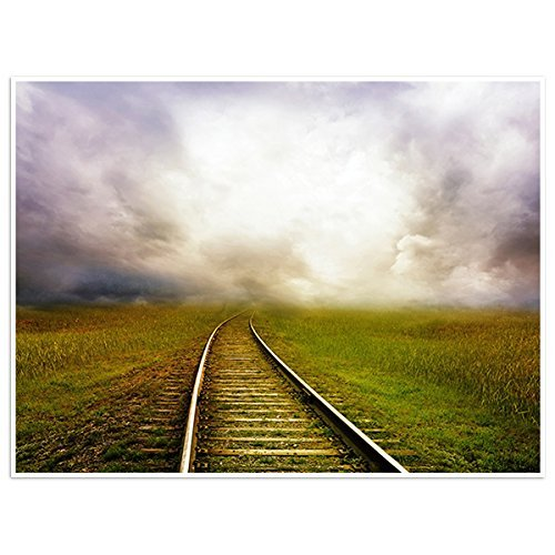 Primary image for Railroad Goes Into The Distance Photography Wall Art Poster