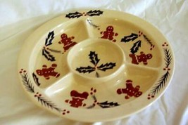 """Cooks Bazaar Gingerbread Man Chip And Dip Plate 13"""" - $33.29"""