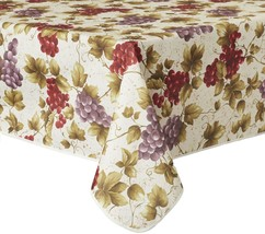 "1 Printed Fabric Tablecloth, 52"" x 70"" Oblong (4-6 ppl) EURO VINEYARD GR... - $22.76"