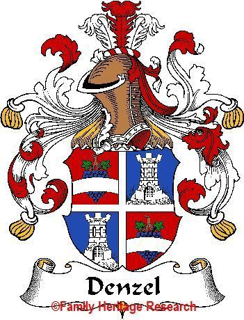 DENZEL German Coat of Arms Print DENZEL Family Crest Bonanza