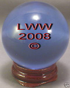 Blue Crystal Ball- 50 mm Divination Pagan Wiccan- NEW