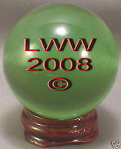 Green Crystal Ball- 50 mm Divination Pagan Wiccan- NEW