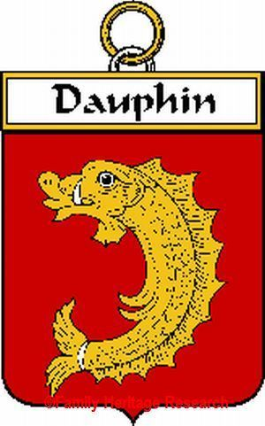 DAUPHIN French Coat of Arms Print DAUPHIN Family Crest Bonanza