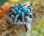 Vintage 1973 Avon Ring Sierra Faux Turquoise Silver Org Box