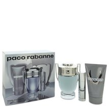 Paco Rabanne Invictus Cologne 3.4 Oz Eau De Toilette Spray 3 Pcs Gift Set image 1