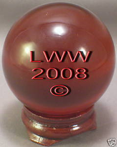 Red Crystal Ball- 50 mm Divination Pagan Wiccan- NEW