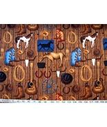 1/2 yard music/guitars/cowboy/horses/wrangler quilt fabric -free shipping - $8.99