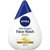 NIVEA Women Face Wash for Oily Skin, Milk Delights Besan, 100ml - $10.99