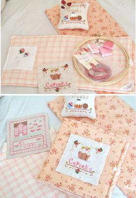 Hoop Keep - Pink pre-finished accessory cross stitch Impie Hattie & Bea