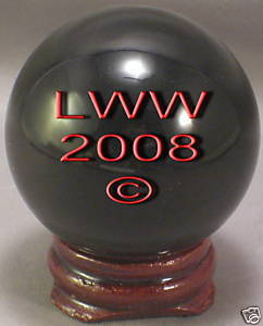 Black Crystal Ball- 50 mm Divination Pagan Wiccan- NEW