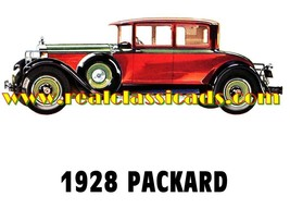 1928 Packard 'G' Cars Sales Service Dealer Logo T-shirt  Decal Signs Decals - $14.95+