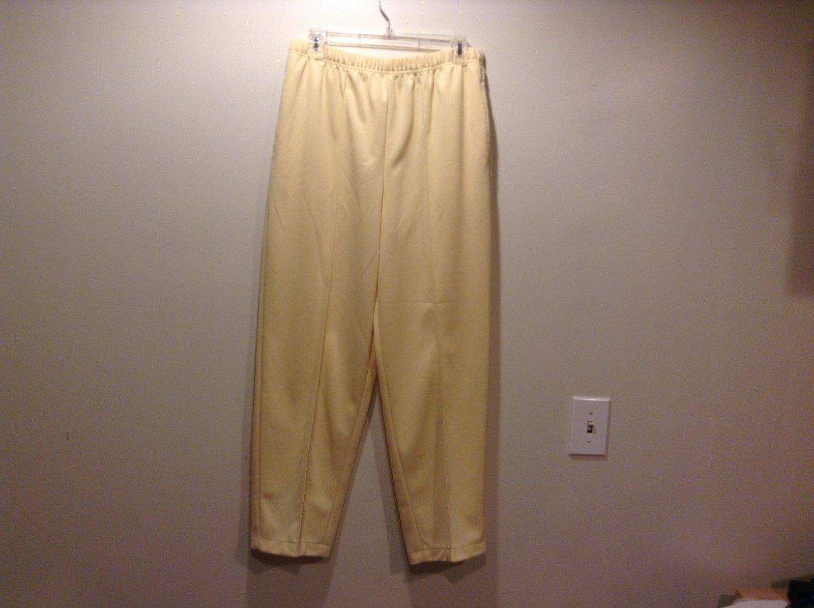 Ladies Yellow Pants w Elastic Waist by Blair Sz 12P