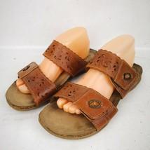 9f2737db22f Earth Origins Sandals Tessa Slides Shoes Size US 10W Tan Brown Flats -   22.99