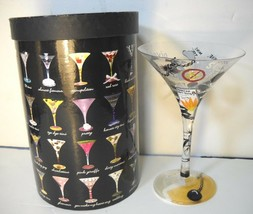 Lolita Divorce tini Love My Martini Glass With Recipe Hand Painted Retired  - $18.70