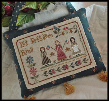 Liberty Belles Pillow pre-finished accessory cross stitch Impie Hattie & Bea