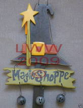 Magic Shoppe Sign Yard Stake primitive Halloween NEW image 2
