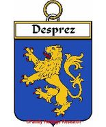 DESPREZ French Coat of Arms Print DESPREZ Famil... - $25.00