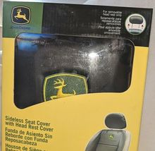 John Deere LP49603 Polyvinyl Black Sideless Seat Cover With Head Rest Cover image 3