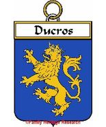 DUCROS French Coat of Arms Print DUCROS Family ... - $25.00