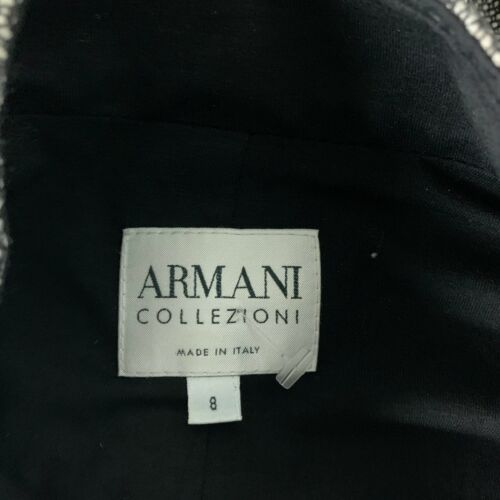 Armani Collezioni Blazer Jacket Wool Gray Textured Women Sz 8 Italy