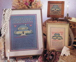 CROSS STITCH ALMA LYNNE A COUNTRY HOME SAMPLER - $3.00