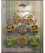 8 Shamrock Irish St.Patrick's Day Button Pins Lapel Pin - $3.99