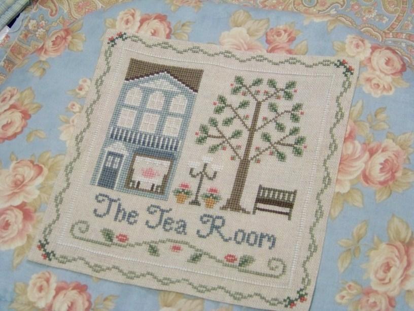 Tea Room Cozy pre-finished accessory cross stitch Impie Hattie & Bea