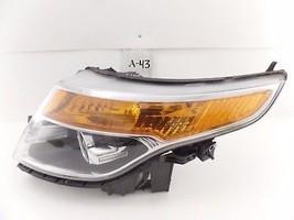Oem Headlight Head Light Lamp Headlamp Ford Explorer 11-15 Chip Top Mount - $94.05