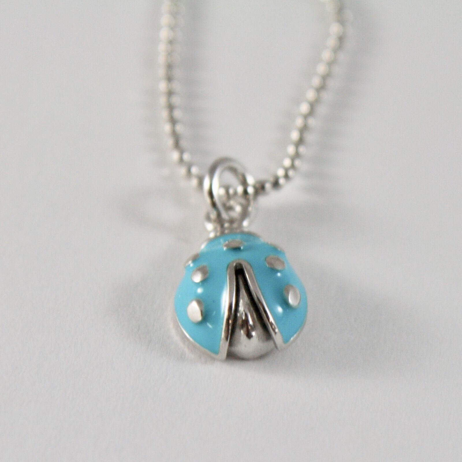 Silberkette 925 Jack&co mit Kugeln Glänzend und Marienkäfer Emailliert 45 CM image 4