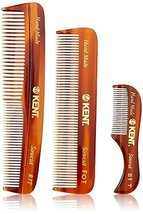 Kent Handmade Combs for Men Set of 3 - 81T, FOT and R7T - For Hair, Beard, and M image 11