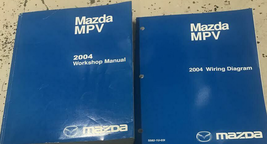 2004 Mazda MPV Van Service Repair Shop Workshop Manual Set W ETM Factory... - $118.75