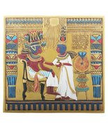Egyptian Hieroglyphical Tut Throne Scene Decorative Wall Plaque - $43.99