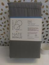 Nate Berkus (KING)-500 TC Tri Ease Herringbone Pillowcase Set Project 62 GREY  image 2
