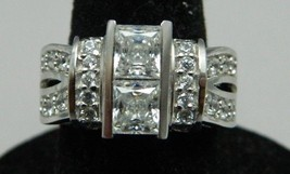 Estate Fresh JJJ Sterling Silver .925 Cubic Zirconia Engagement Ring Sz 5.75 - $39.60