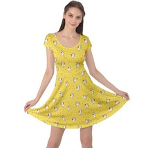 Women's Funny Roosters Print Elastic Stretchy Swing Cap Sleeve Dress Size XS-5XL - $28.99+
