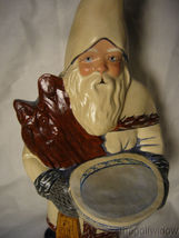 Vaillancourt Folk Art Santa with Delft Punchbowl & Ginger Cake Signed image 5