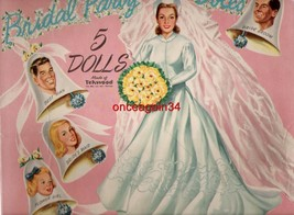 VINTAGE UNCUT 1950's BRIDAL PARTY PAPER DOLL~#1 REPRODUCTION~HARD-TO-FIN... - $18.50