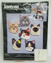 1997 Janlynn Needlework Cross Stitch Cats Magnets NIP Arts Crafts Kits K... - $35.52