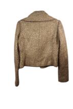 Brown Gold Ralph Lauren Collection Women Blazer Coat Jacket Sz 4 Made in USA image 5